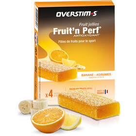 OVERSTIM.s Fruit'N Perf Antioxydant Bar Box 4x25g, Banana Agrums